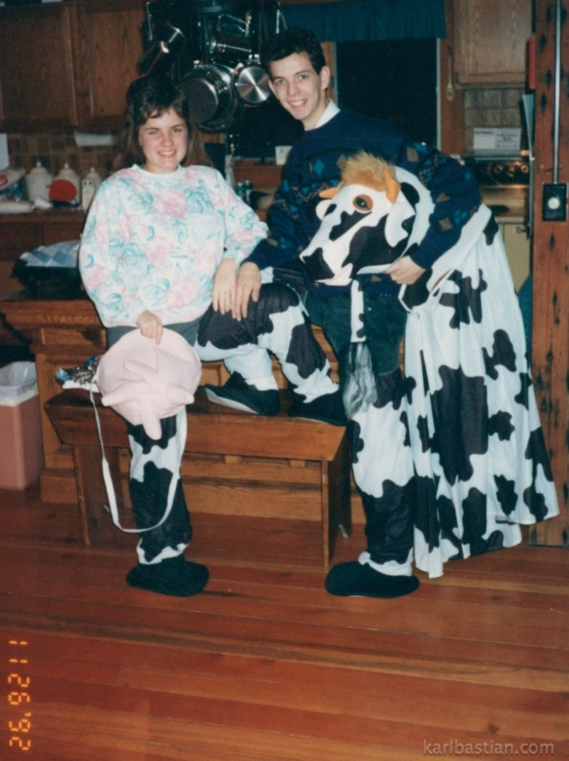 How do you know if someone is a fit for marriage? If they are willing to be the rear end of a cow with you! This is Sara and me practicing in my Cow Costume ...  sc 1 st  Karl Bastian & Cow Archives - Kidologist.com