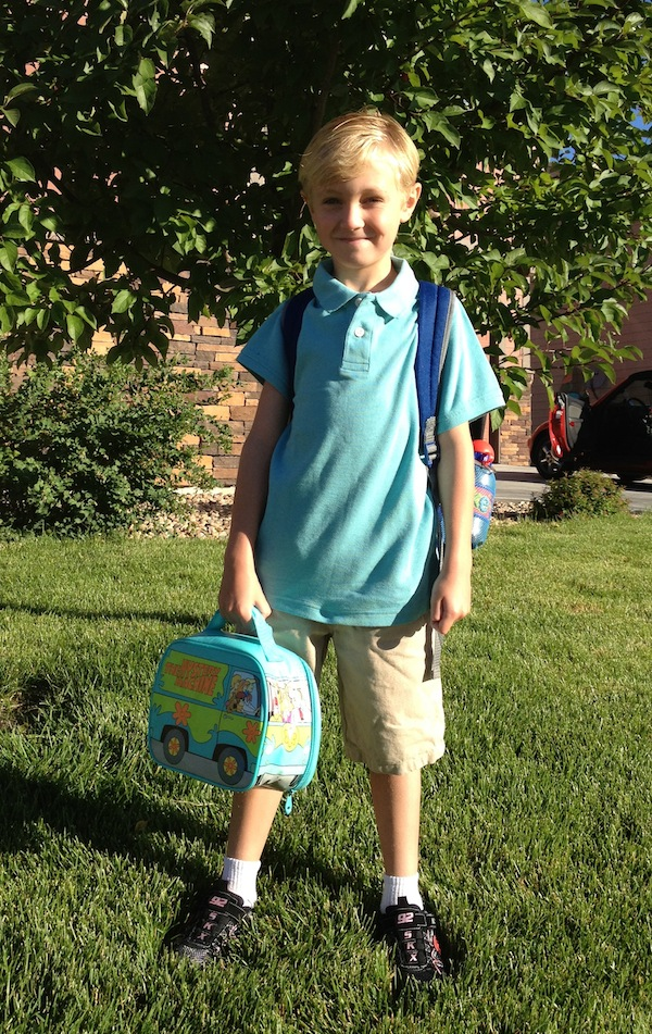 luke1stgrade1stday