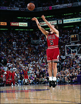 """Do you have time to think about it? You better be ready or else you shouldn't be out there,"" said Paxson of his series-clinching shot in the 1993 NBA Finals.(Andrew D. Bernstein/NBAE/Getty Images)"