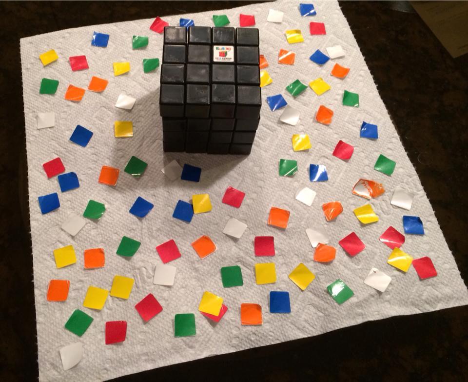 A Naked Rubix Cube!