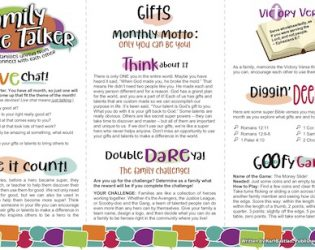 July Family Table Talker Available